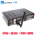 5pcs/lot free shipping Jynxbox ultra HD V30 TV satellite receiver with USB wifi antenna for North America wholesale