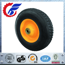 High quality 8inch 10inch 12inch black industrial solid rubber wheel