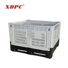 agriculture stackable foldable collapsible heavy duty plastic fruit meat storage crates