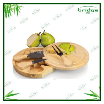 2015 new bamboo cheese board set