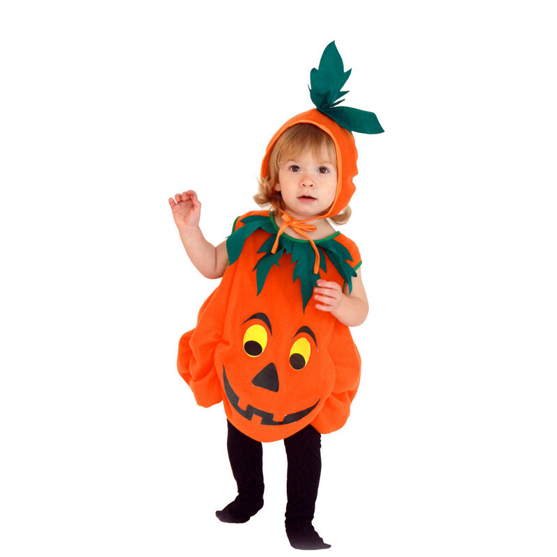 Halloween children's pumpkin caped doll costumes for kids costumes