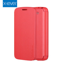 X-LEVEL Ultra Thin Vintage PU Flip TPU Soft Back Cover Mobile Phone Case for LG G2 Mini