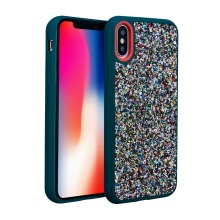 For iphone X Luxury Bling Jewel Rock Crystal Rhinestone Diamond Case Shockproof Dual Layer Protective Cover for iphone X