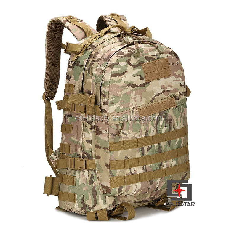 Molle System 3D Canvas Nylon Tactical Combat Backpack / Army Assault Bag / Multicam Camo Military Rucksack