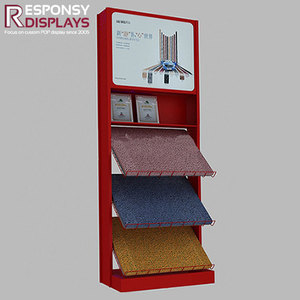 customized metal carpet tile display stand