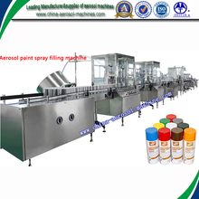 High capacity automatic spray paint can filling machine