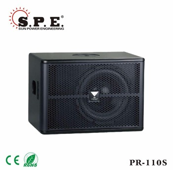 Made in Guangzhou 10 inch mini powered subwoofer for KTV room and bars