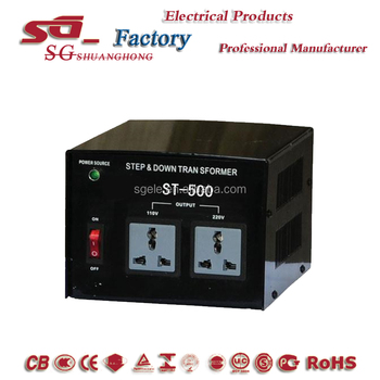 Manufacturer ST-500 Step Up & Down Transformer 2000VA ,ST Transformer AC