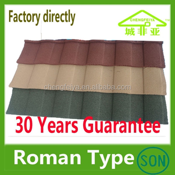 Color stone metal roofing Roman type