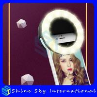 Drop ship rechargeable selfie ring light,selfie adjustable bright portable led ring flash,led flash light selfie flash led