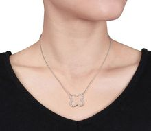 Simple fashion design four leaf clover shaped necklace with S925