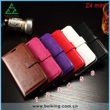 Flip Leather PU Stand Card Slot Case For Sony Z4 Mini, Wallet Case For Sony