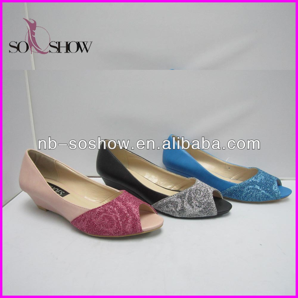 fashion new model flat fish mouth shoes in 2014
