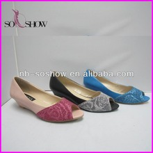 fashion new model flat fish mouth shoes in 2017