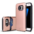 Bulk cell phone case for samsung galaxy s7 case , phone case with card slot