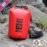 Outdoor customed logo pvc 500D waterproof dry bag factory for swimming camping