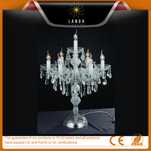 K9 crystal chandelier table lamp