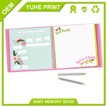 Color printing cheap hot sale professional offset printing debossing hardcover baby memory book