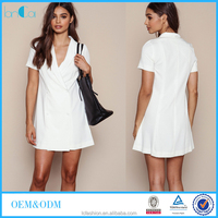 Chic clothing designs of nurse uniform ladies sexy summer dress short