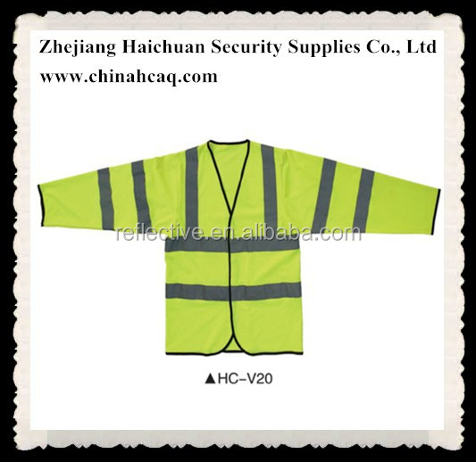 High Visible Clothes Reflective Safety Vest With Long Sleeve