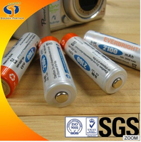 dry cell nimh rechargeable aa battery 1.2v 2100mah