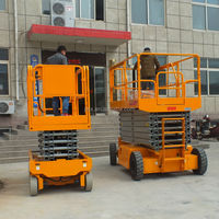 2-12m automatic drivable sicssor lifts/self-propelled human lifts
