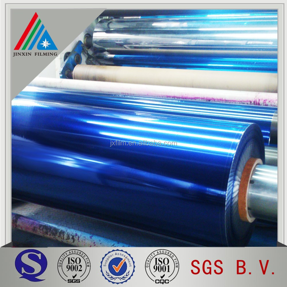 color metallized pet xxx blue film