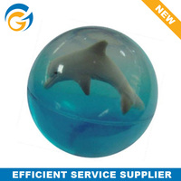 3D Dolphin Small Hard Rubber Ball