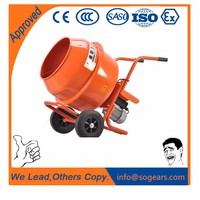 electric portable Wheelbarrow-style Mini Concrete Mixer 350L