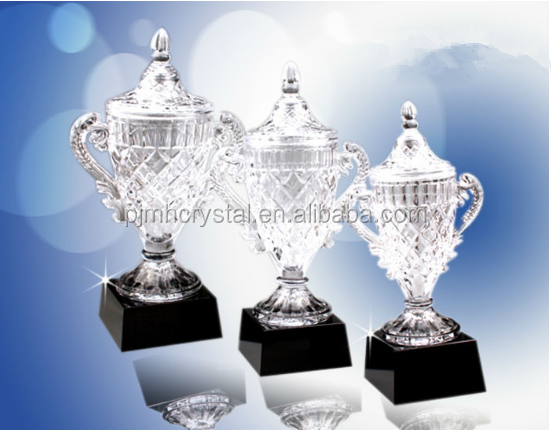 Big Crystal Trophy Cup With Black Base MH-JB039