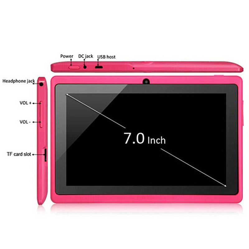 Q88 tablet pc A33 800x480 HD screen built-in bluetooth Android 4.4 android smart tablet pc