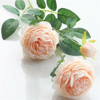 Hot Sale Peony Artificial Silk Flower for Wedding Decoration