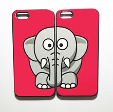 Cute elephant best friends phone case set for iphone 5/5s