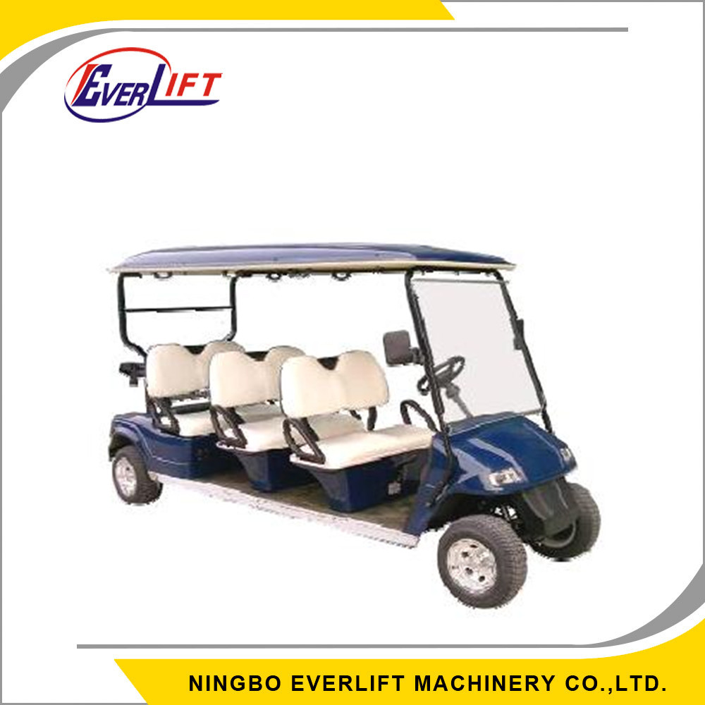 EV2068K 6 Seater Six Person Seats 4 wheel Drive Electric Golf Cart for sale