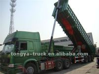 3 axles rear tipper trailer