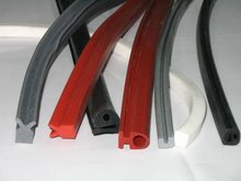 red sealing profile,silicone rubber product,silicone extrusion