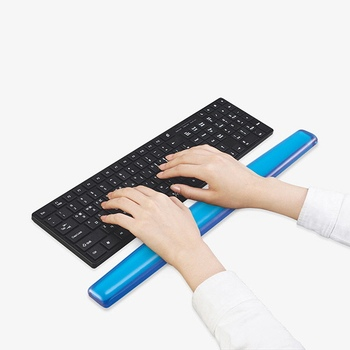 Jelly wrist support, Crystal gel keyboard wrist rest pad,easily clean keyboard pad