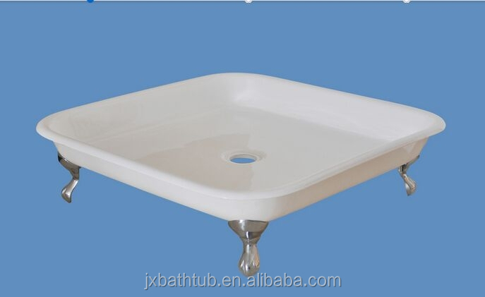 porcelain 301A+ freestanding alibaba.com white enameled cast Iron shower trays for sale for fat people