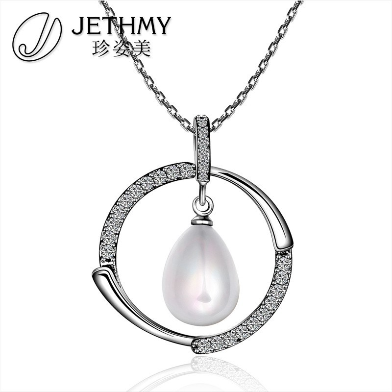 Magnificent Different Styles Big Round Pearl Inlaid Pendant Jewelry Wholesale