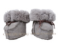 CX-SHOES-05C Chengxing Fur Wholesale Real Sheepskin Baby Shoes