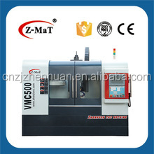 VMC500 spindle center coolant 4 axis rotary table 24 tools arm ATC 3 axis linear guideway cnc milling machine for sale