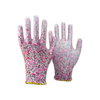 Brand MHR yellow nylon coated yellow PU hand gloves for cooking