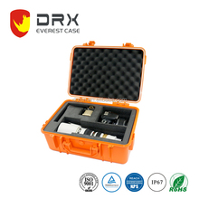 Waterproof Plastic Equipment Camera Hard Case with Foam & Carrying Handle