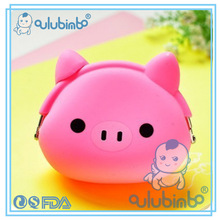 fashion made beautiful coin purse leather Childrens Cute Wholesale Silicone Purse