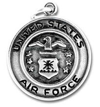 DSC02800 Yiwu Huilin jewelry United States Air Force Charm Cremation eagle Jewelry round Pendant