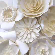 Extra Large White Paper Flowers for Wedding Party Decoration