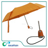 cheap orange umbrella foldable with custom print umbrella
