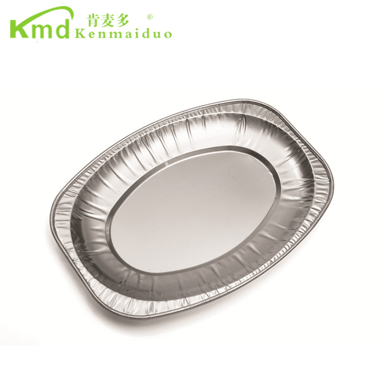Full Size Food Serving Disposable Aluminium Foil Plate Food Tray