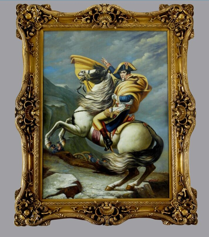 29201 Antique Frame with handmade Napoleon Decorative Canvas oil art painting