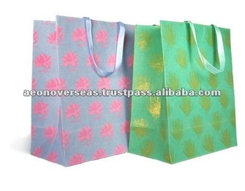 Custom Printed Handmade Paper Gift Packaging Bags